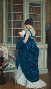 Dans la Bibliothèque by Auguste Toulmouche
